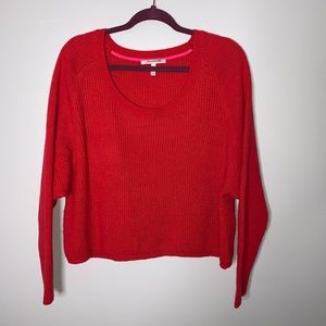 Victoria's Secret red crop sweater